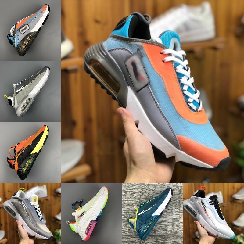 2020 Mens de la manera al aire libre Formadores 2090 OG zapatos corrientes Triple Blanco Negro Diseñador jogging senderismo Deportes zapatillas de deporte Airs Tamaño 36-45
