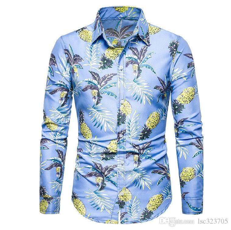 Hommes Chemise À Manches Longues Hommes Chemises Casual Slim Fit Hommes Robe Chemises Vêtements Hommes 2019 Hommes Chemises Habillées Pour Hommes Vêtements