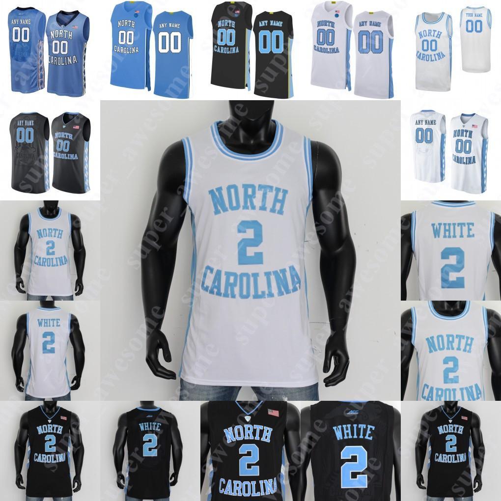 NCAA North Carolina Tar Heels Basketball Jersey Cole Anthony Garrison Brooks Coby White Fuite Black Armando Bacot Francis 50 Hansbrough
