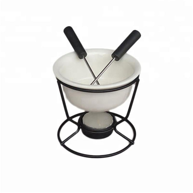 Microwave Safe Dishwasher Safe Oven Safe Luvan 4 Pieces Ceramic Butter Warmers with 20 Pieces Tealight Candles Set for Seafood Fondue