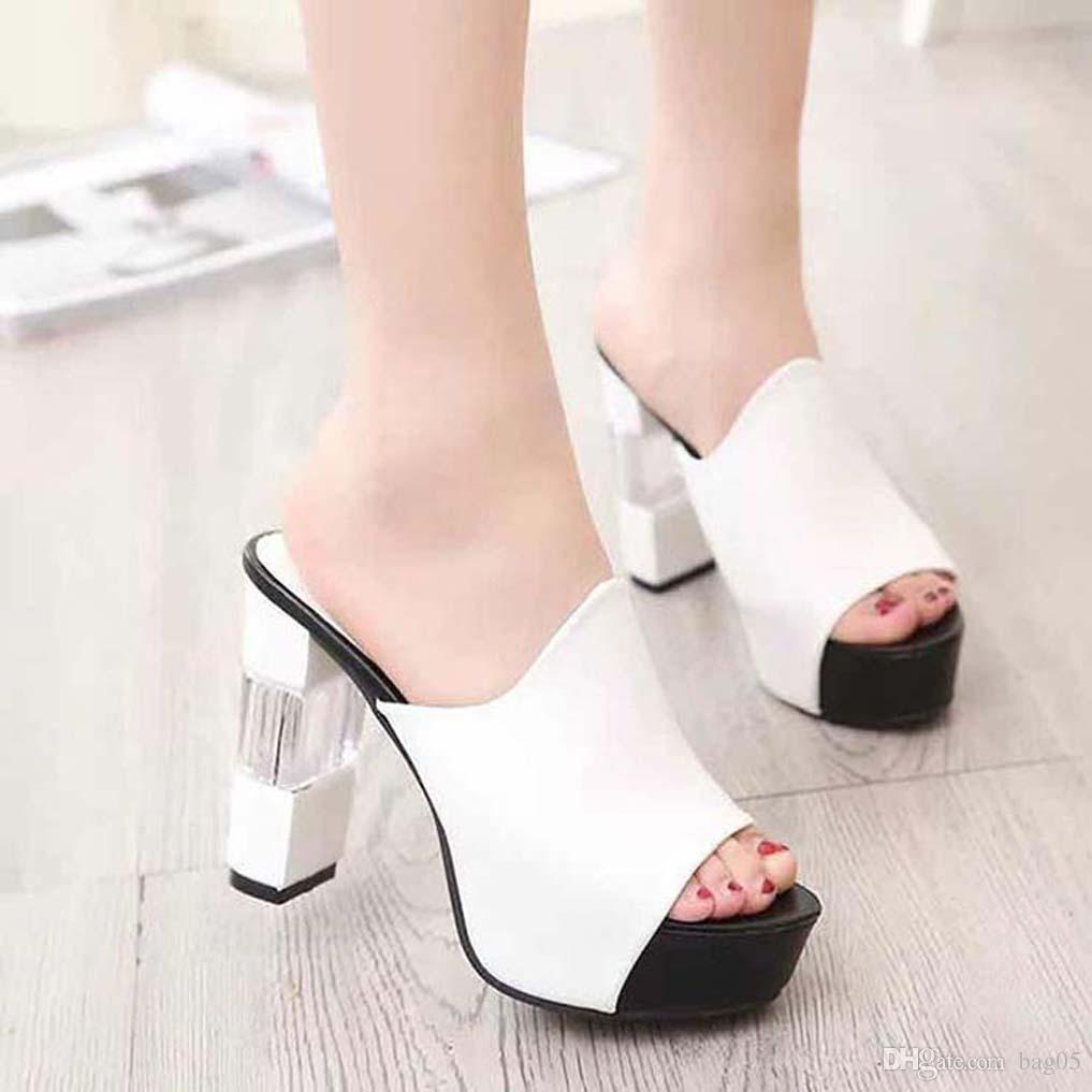 Frauenschuhe Sandalen High Quality Fersen Pantoffel Huaraches Flip Flops Slipper Schuh Für Pantoffel bag05 PL798