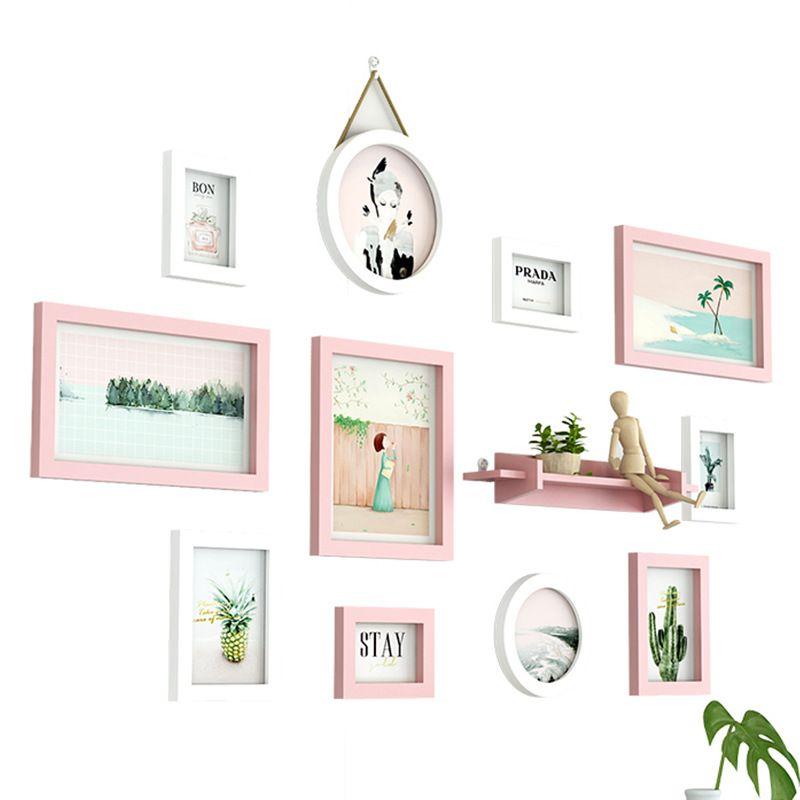 11pcs / set Estilo Moderno marco de fotos combinación de TV Sofá Antecedentes marco colgante Imagen Personalidad regalo creativo Diseño Marcos