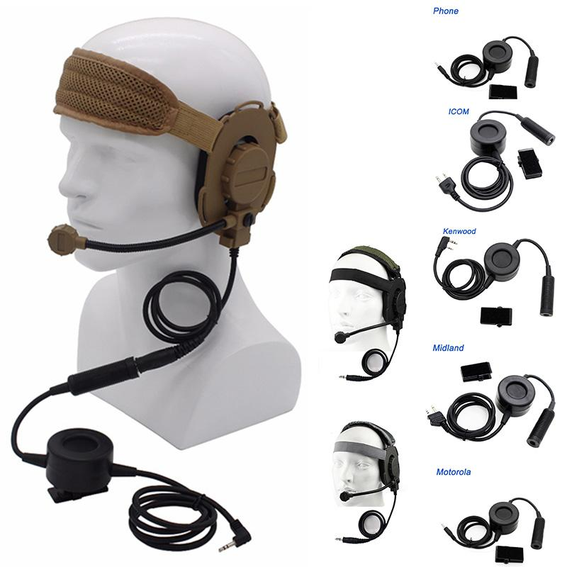CS Tacitcal Gear Paintball Shooting Headphone Tactical Earphone Airsoft Shooting Combat II Z Tactical Headset with PTT