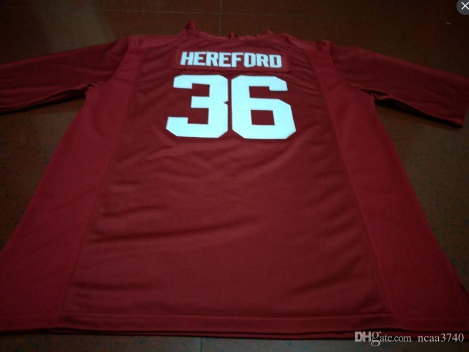 Hommes jeunes femmes #36 Mac Hereford Alabama Crimson Tide Football Jersey Taille S-4XL ou personnalisé n'importe quel nom ou numéro jersey