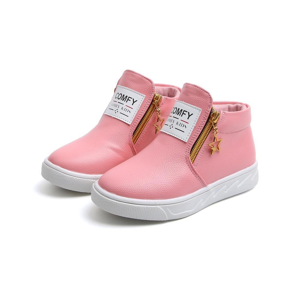 Весна Осень мода для детей Сапоги для мальчиков девочек кожаных сапог обуви причинных плоских детей мартеновских ботинки ботинки 26-36 малышей ботинок Y200104