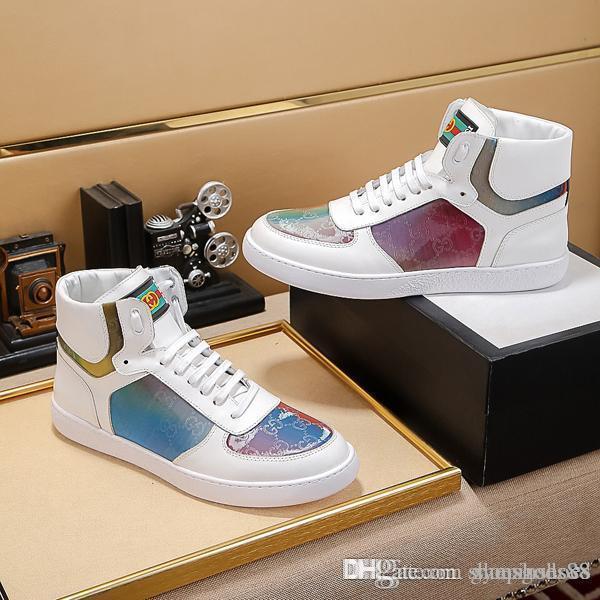 Mode hommes de luxe chaussures de sport Speed runner chaussures haut Baskets montantes en cuir de qualité supérieure chaussures de plein air vacances bottines pour homme