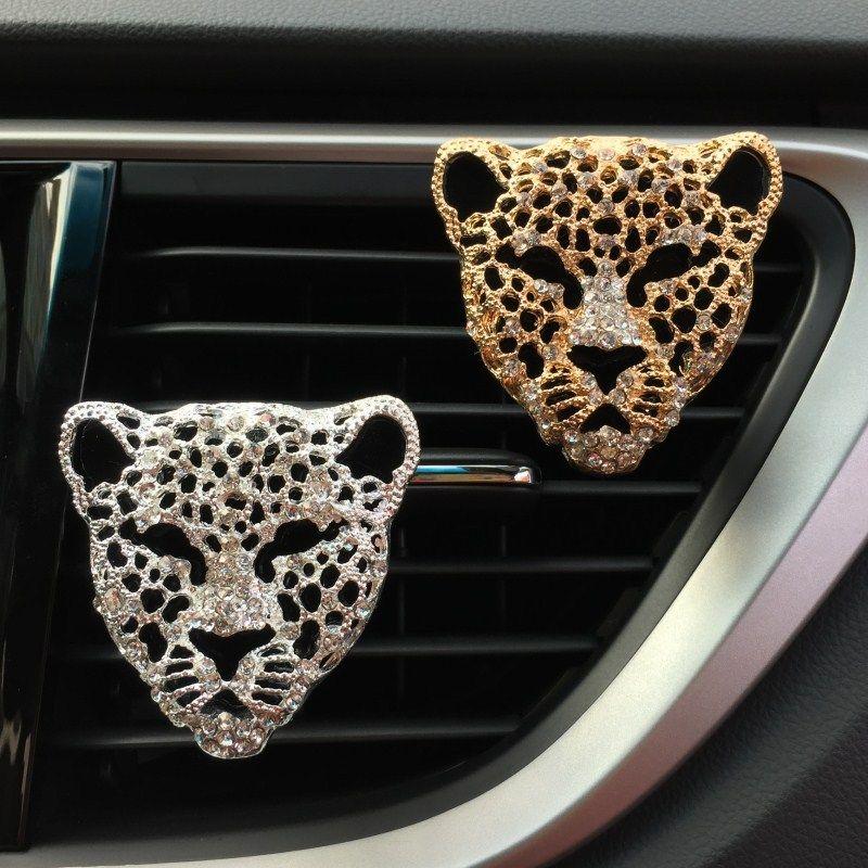 Perfume Auto Car Decoração Difusor Vents saída Fragrance Clipe Car Ornamento Interior Diamante Leopard Air Freshener Styling