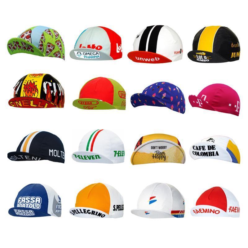 Multi tipos transpirable ciclismo gorras bicicleta desgaste sombrero pro equipo bicicleta gorras hombres y mujeres jersey conjunto a juego carretera de montaña Headwear