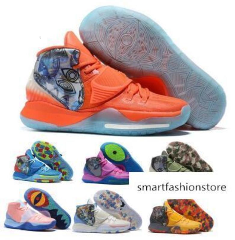 2020 Kyrie Erkek Ayakkabı 6 Tokyo Manila Kavramlar Khepri NYC Onceden Koleksiyon Aydınlanma Jet Orange 6s Tasarımcı Ayakkabı Sneakers