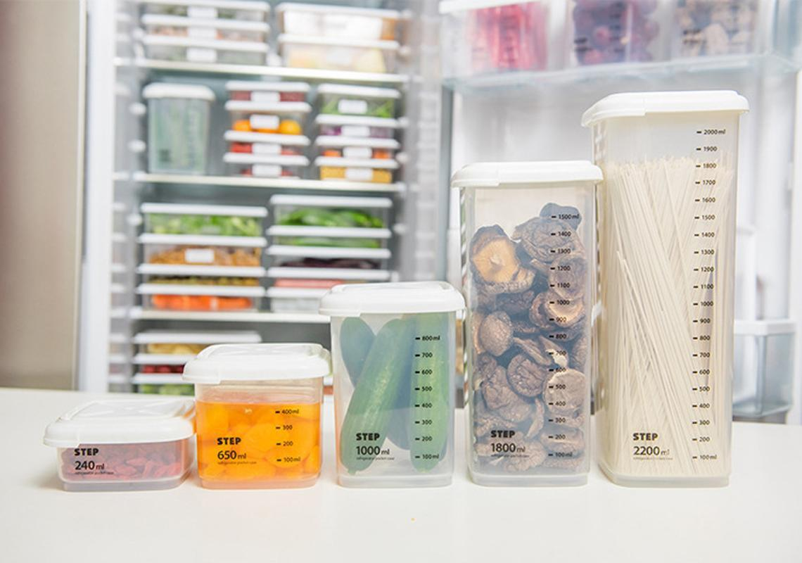 Бутылки для хранения JARS Plach Plast Capered Box Candy Fruit Корзина для корзины зерна прозрачный многомощённый кухонный контейнер # 5.15