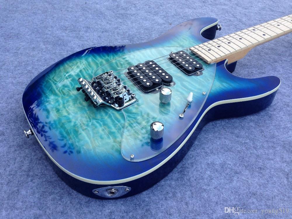 Ordine all'ingrosso Blu Tiger 6 corde chitarra elettrica con personalizzazione