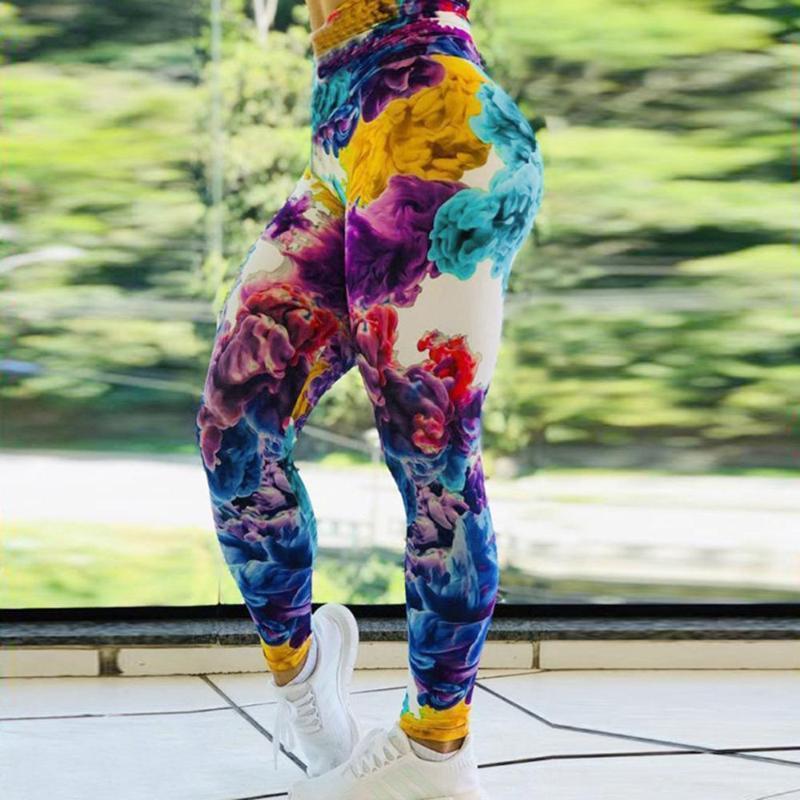 Impresión Digital polainas delgadas de la mariposa atractivo de la impresión pantalones Empuje polainas de los pantalones de cintura alta de Deportes Hasta aptitud de las mujeres Leggins Mujer