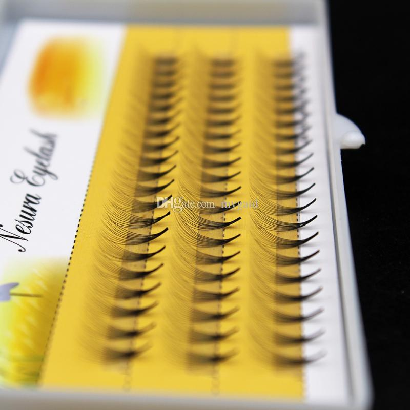 New 10p/Cluster 60 bundles Individual Cluster Eyelashes Eyelash Grafting Extensions 0.07mm Thickness