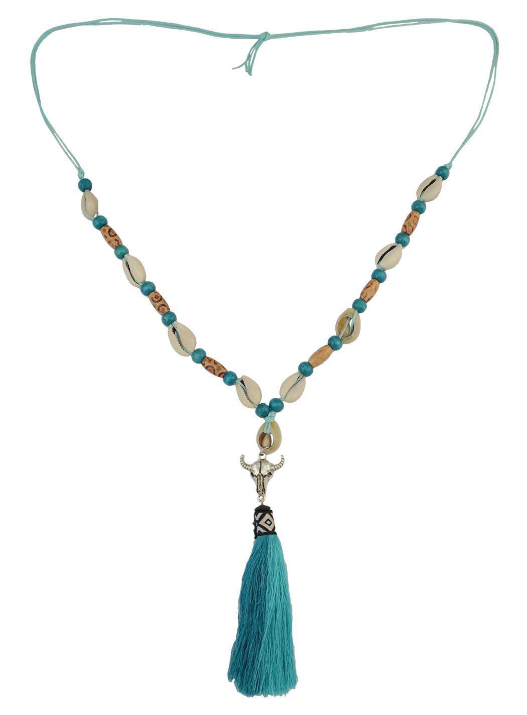 colar de contas boêmio projeta mulheres com chifre colar de contas feitas à mão desenhos de jóias com colar de contas de borla
