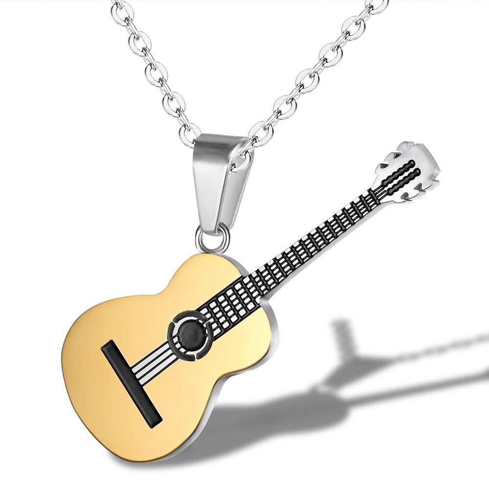 Новые ювелирные изделия творческая личность хип-хоп музыка гитара кулон мужской и женский титан сталь ожерелье