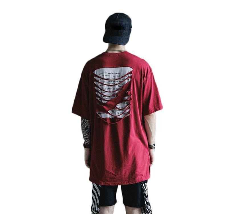 Camiseta Homens Cut off Homens sólidos Casual s T camisetas Meninos de algodão Hip Hop Camiseta de manga curta O-Neck Moda Verão T para homens mulheres