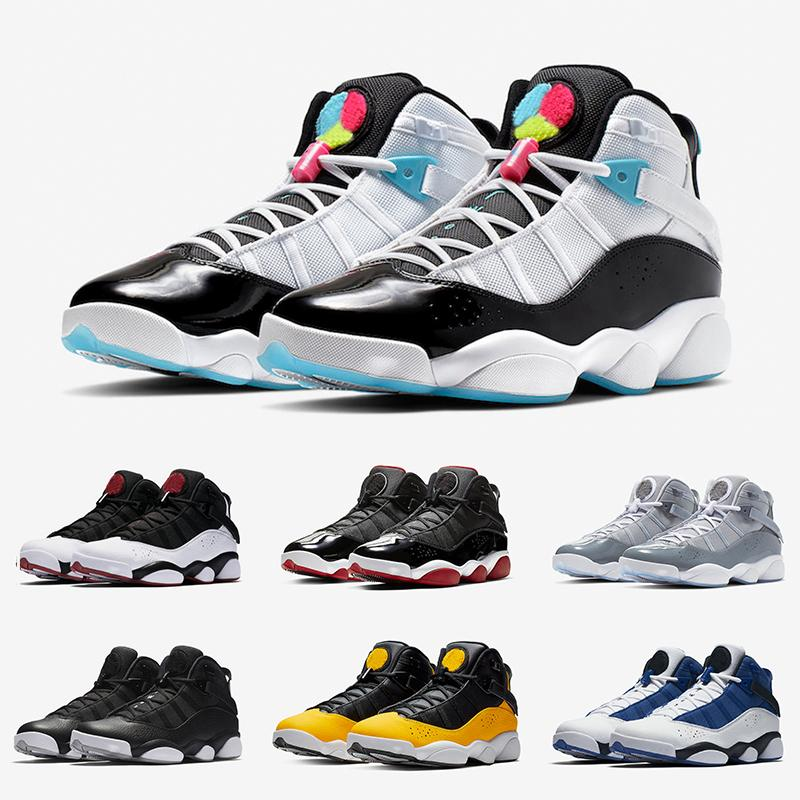 With Box 6 6s Six Rings Mens Basketball