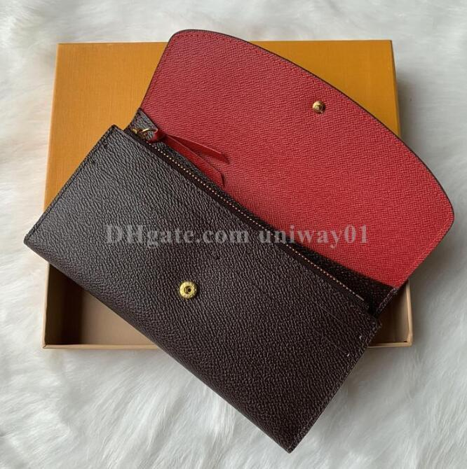 Código original Checked Titular de la caja Damier Flower Wallet High con tarjeta de calidad Fecha CCACX