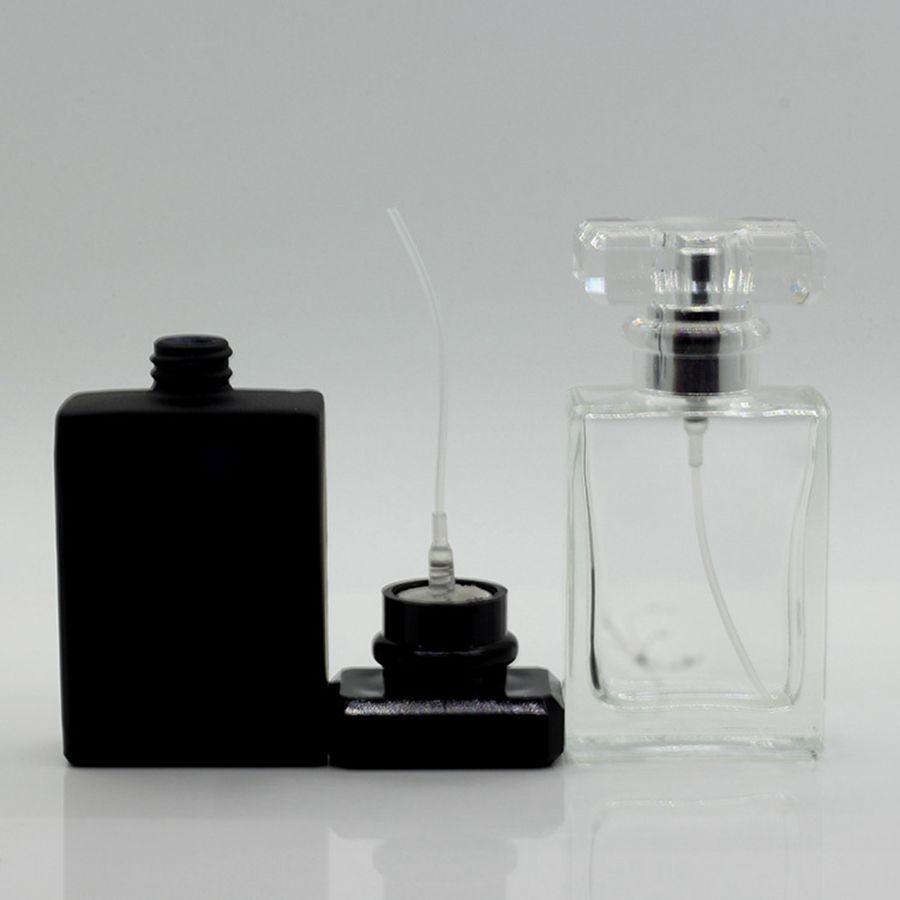 30ml Transparente Glasflasche leer Parfümzerstäuber Sprühflaschen Sprühflasche tragbare Reise-Parfüm-Flasche RRA1317