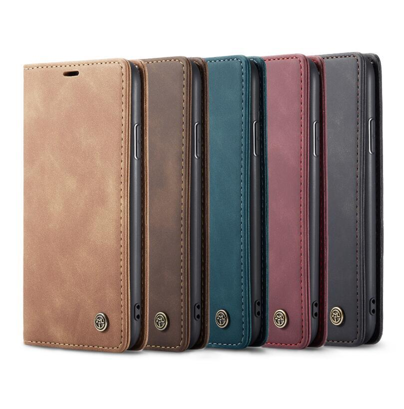 삼성 갤럭시 S10 S20 마그네틱 용 iPhone 12 11 Pro Max Mini 8 Plus 용 CaseMe Leather Case