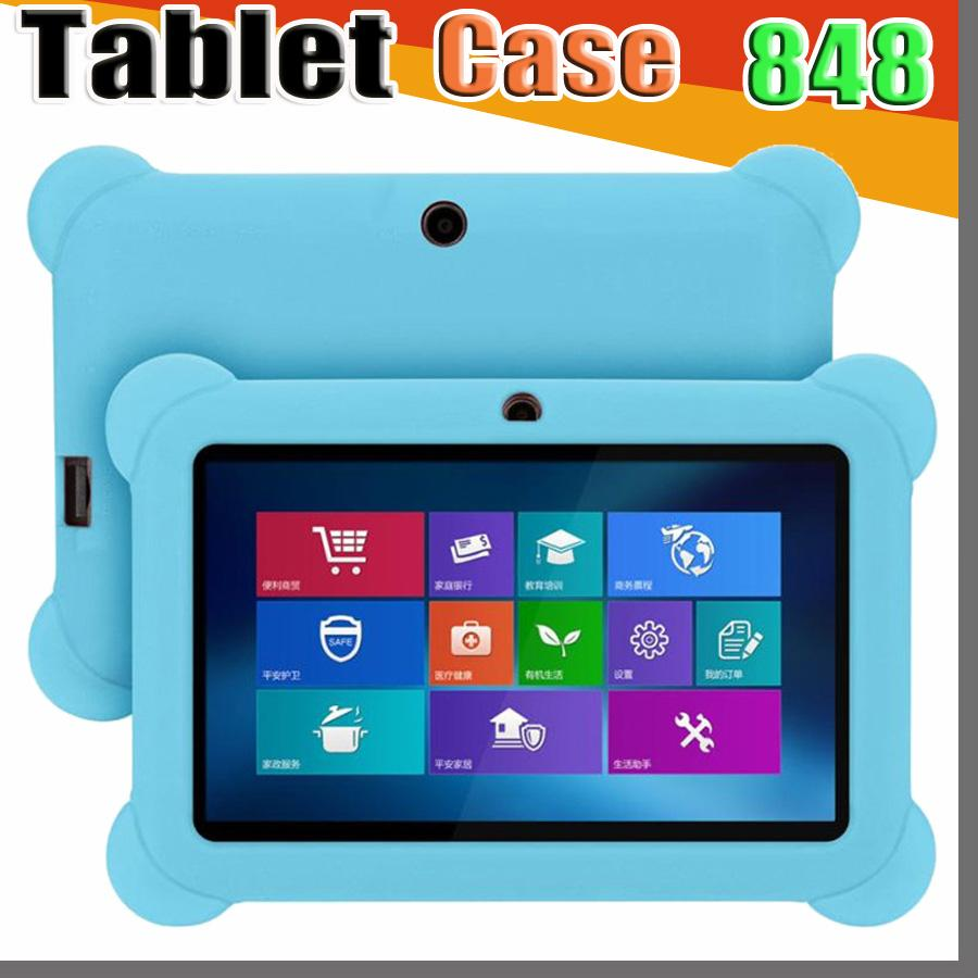 """848 Anti Dust Kids Child Soft Silicone Rubber Gel Case Cover For 7"""" 7 Inch Q88 Q8 A33 A23 Android Tablet pc MID Free shipping"""