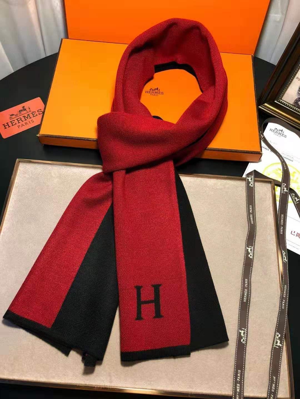 High-end lenço marca francesa padrão de duas cores impressão dom feminino lenço macho de alta qualidade 180x30cm tamanho nenhuma caixa