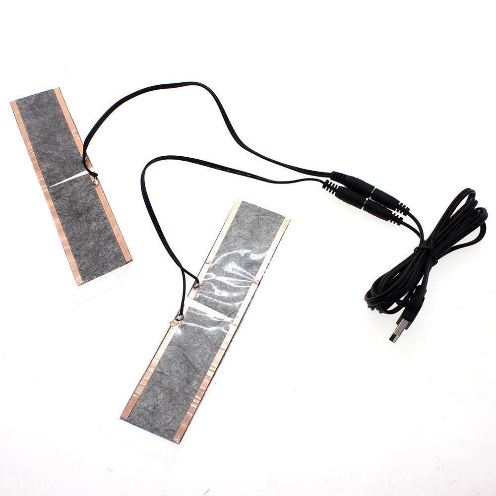 Winter im Freien wasserdichte Ski wärmende Einlegesohlen 5V USB Heizung Handschuhe Elektrostrandausrüstung Wassersport Heizsohlen Fußwärmer beheizt