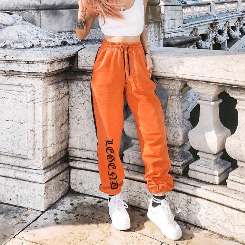 Compre Pantalones De Chandal Sueltos Para Mujer Pantalones Harajuku 2019 Otono Mujer Naranja Letra Pantalones De Chandal Estampados Hip Hop Pantalones De Baile Tallas Grandes T190906 A 17 24 Del Shen8407 Dhgate Com