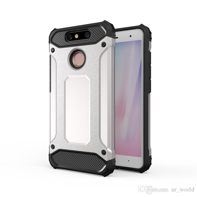 For One Plus 5 Shockproof Matte 2 in 1 Hybrid Armor TPU Phone Case For ZTE V8Q Zmax Pro