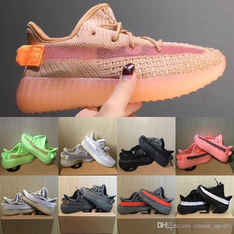 New Kids Scarpe Kanye West V2 Scarpe riflettente Beluga 2.0 Zebra scarpe da tennis di Clay ragazza del neonato del bambino scarpa da tennis Nero Rosso corsa