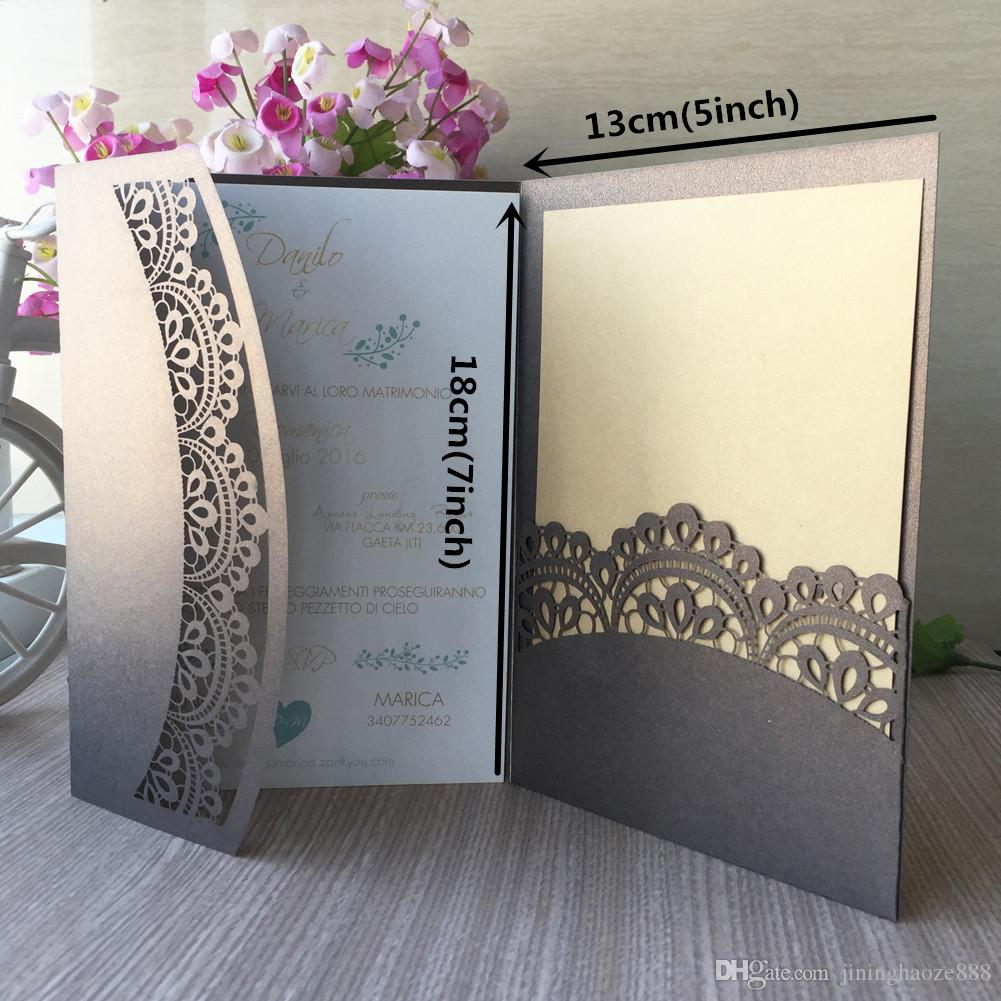 Hollow Laser Cut Wedding Invitation Card Elegant Tri Fold Pocket Folds  Laser Cut Wedding Invitations For Anything Events Party Tree Wedding  Invitations Wedding Invitation Boxes From Jininghaoze888, $27.44| DHgate.Com