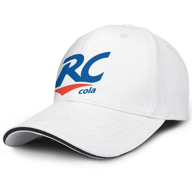 Unisex RC Cola Logo Moda Beyzbol Sandviç Hat Özel Sevimli Kamyon şoförü Cap Royal Crown İçecek Amerikan bayrağı Logolar Beyaz mermer