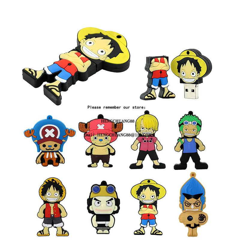 Japan One Piece Pirate Skeleton USB Flash Drive 128GB D. Luffy 32GB U Disk 64GB Pen drive 16 8 GB USB Memory Stick Good quality can pass H2