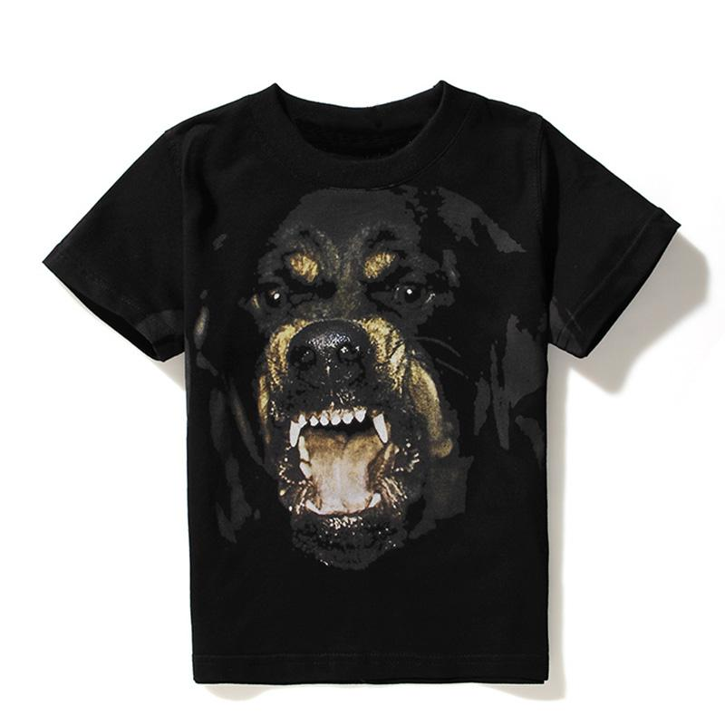 2019 Nouveau luxe Hommes Designer T-shirts Hommes Femmes Hip Hop T-shirt 3D Print shirt Rottweiler Designer