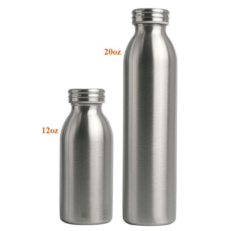 Aço inoxidável Milk Bottle 12 onças 20 onças isolamento térmico de vácuo garrafa de água portátil Dual Layer Leite Garrafa com Leak Proof Lid UPS AIR A09