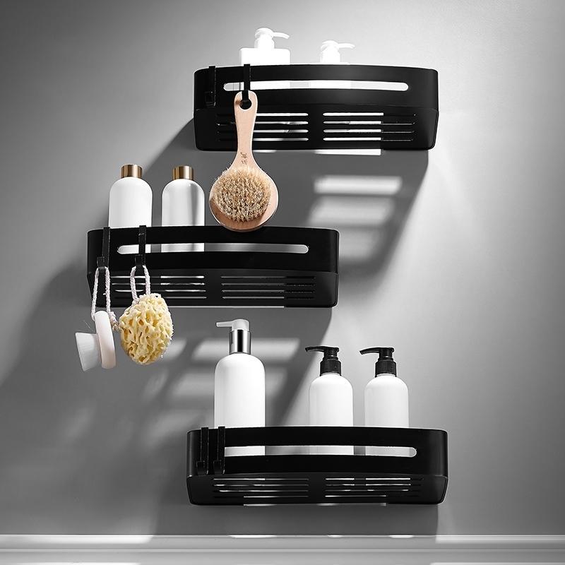 Utile MURO ASCIUGACAPELLI spazio rack in alluminio bagno muro mensola supporto storage de