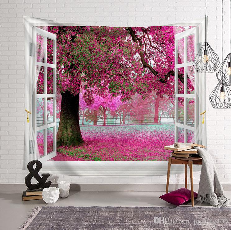 Tridimensionale paesaggio naturale foto sfondo arazzo appeso a parete in poliestere parete decorazione panno tovaglia tenda casa arredamento della camera