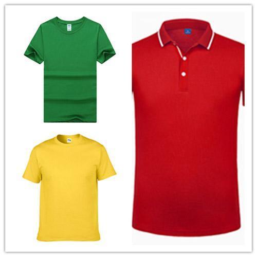 Classique en soie fibre à manches courtes T-shirt Uniforme de POLO d'hommes ou de femmes longue chemise dwe-65