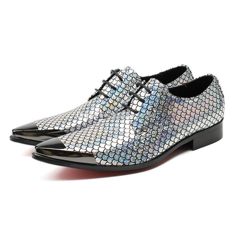Mode Spitz Derby Mann Formelle kleidung Schuhe Elegante Designer Echtes Leder Hochzeit Party Herrenschuhe