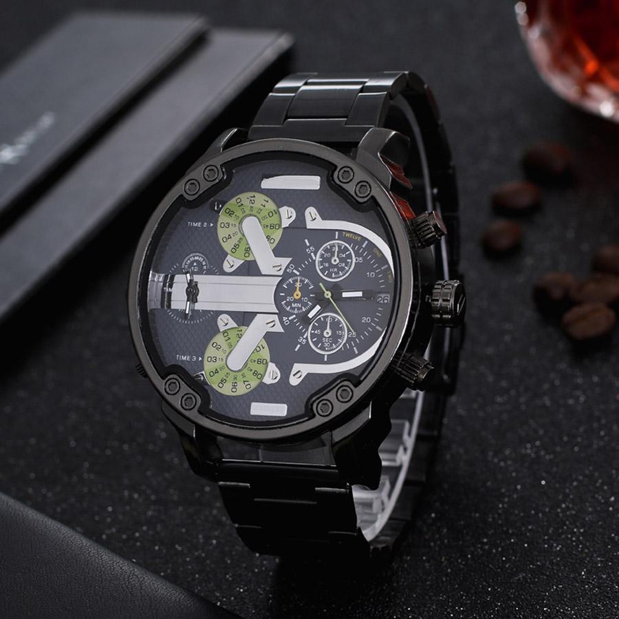 Venda de luxo Hot Mens Watch Stainless Steel Strap Big Dial Designer relógios Quartz clássico Militar de pulso automático relógios Relógio