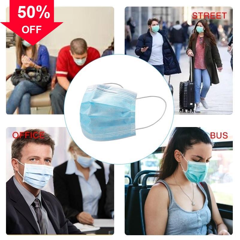 2DpL5 DHL 3-Ply monouso Viso Bocca Anti-Haze prova della polvere Earloop anti-fog maschera maschere della bici di trasporto