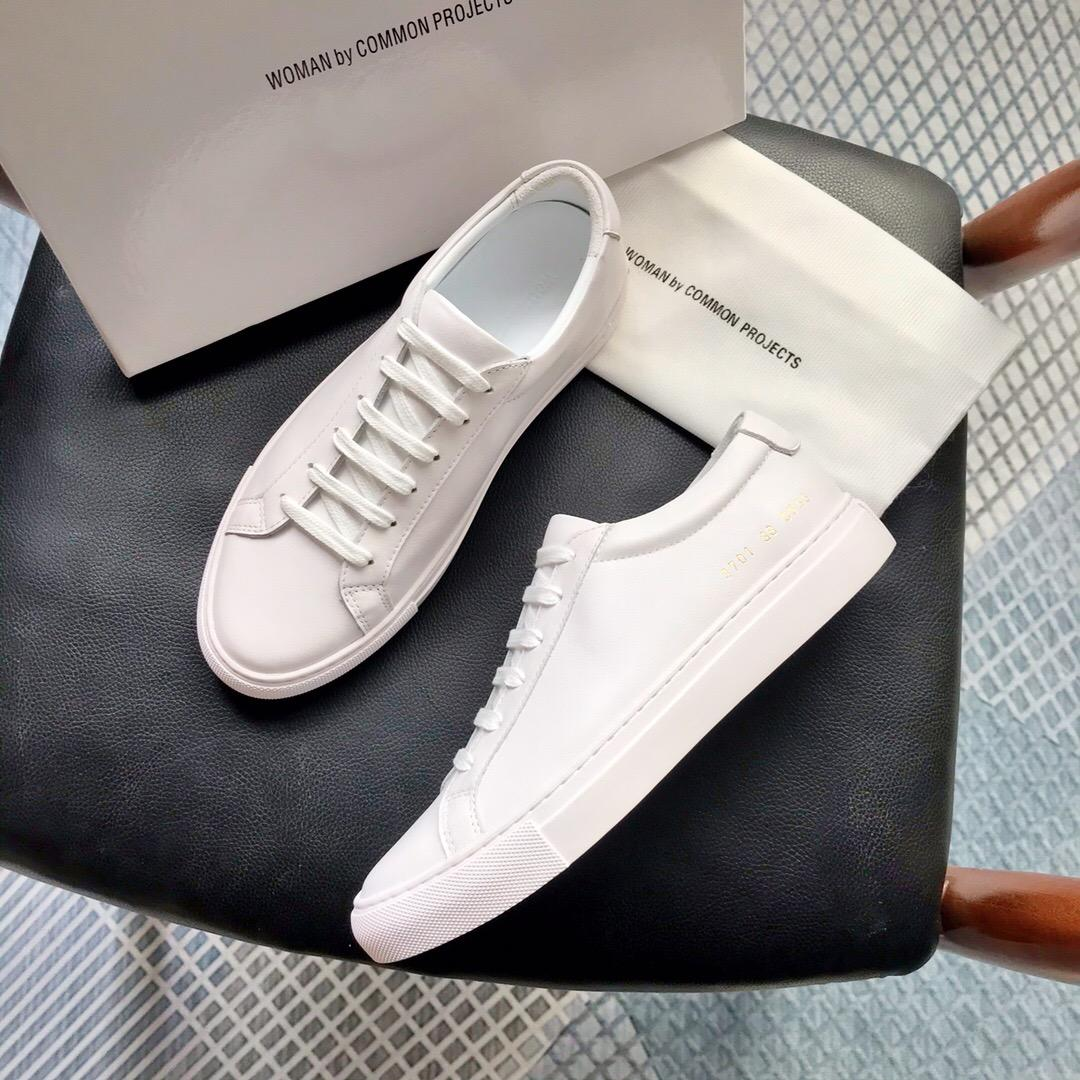 2020 New White Achille Rose bas chausse Sneakers en cuir véritable Chaussures Casual Homme Femme Flats A2 Chaussure