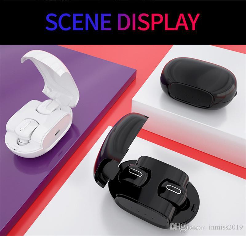 G2 TWS auriculares Bluetooth 5.0 fone de ouvido impermeável mini portáteis verdadeira sem fio Headest Com Touch Control Microfone carregamento Box 15pcs DHL