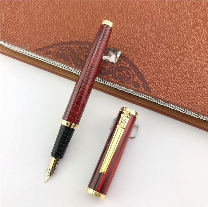 cadeau Stylo plume Fournitures de bureau école métal papeterie commerciale encre stylos enseignant père entreprise présente 004