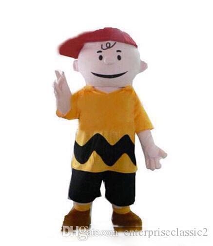 2018 di alta qualità personaggio dei cartoni animati costume charlie costumi in costume operato marrone mascotte adulta