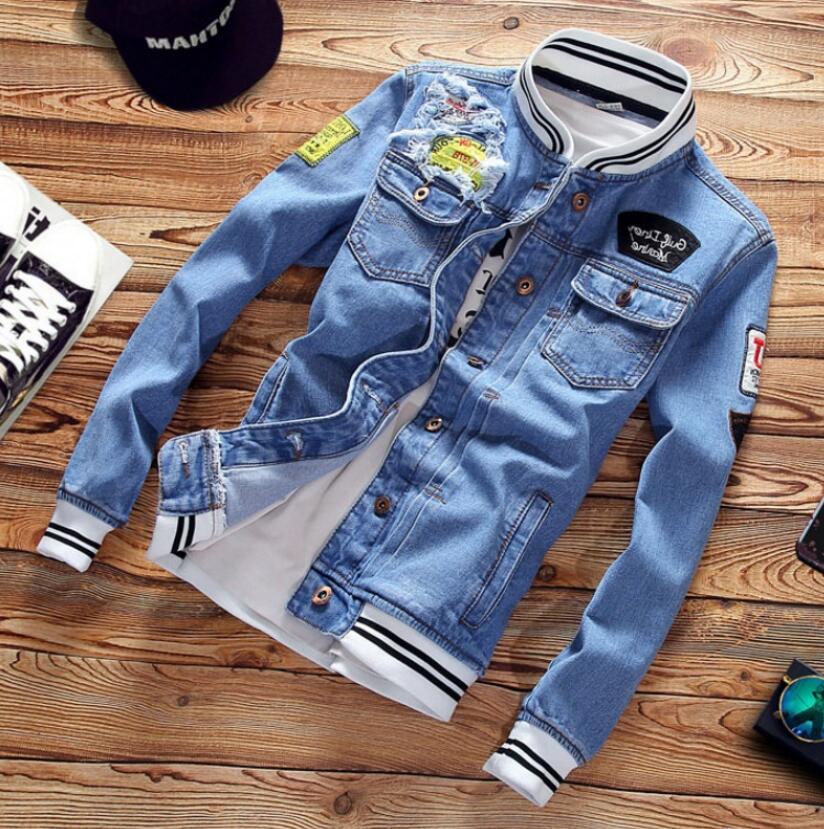 El diseñador Jean Escudo tops para hombre de la chaqueta de las letras ropa de la marca Denim Moda Hombre chaquetas chaquetas al aire libre de lujo Streetwear tapas de los hombres Ropa