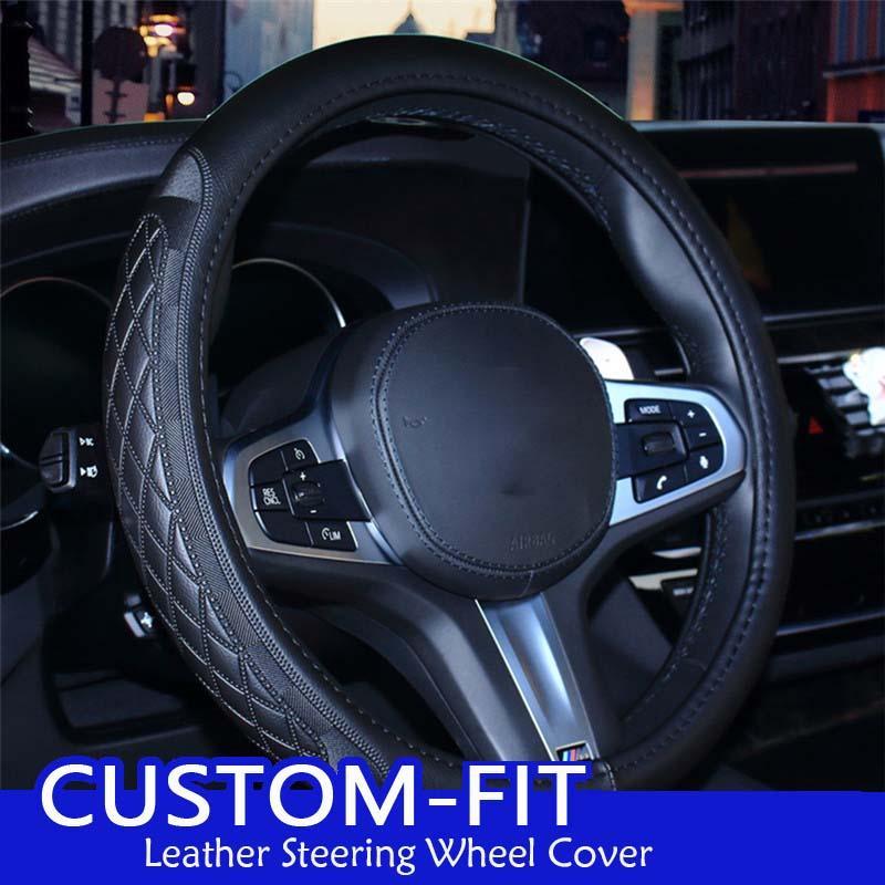 Shenlao عجلة القيادة سيارة الجلود الغطاء عن BMW E46 E39 330I 540i 525i 530I 330CI M3 يغطي التوجيهية