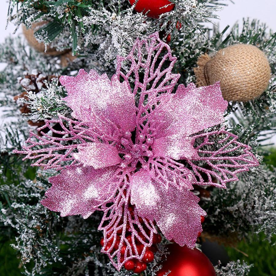 Fiore di Natale della muffa Acciaio al carbonio fai da te fustellatura Glitter Tree fiore di Natale appesi fiori fiore artificiale Xmas Decor OOA7416-5