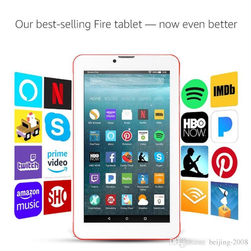 """En ucuz 7 """"PC Tabletler Çift SIM Kart Yuvası Ile 8G WIFI 3G Ağ Akıllı Tablet Perakende kutusu Ile GSM WCDMA Kamera Phablet"""