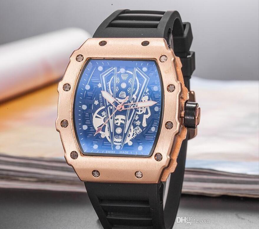 2020 Новый бренд часов Череп спортивные часы мужчин Повседневная мода Скелет кварцевые часы Бесплатная доставка Montre Homme SPROT ЧАСЫ
